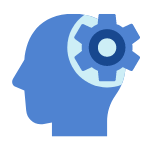 Gear thinking icon